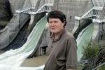 John Briscoe at a waterfall
