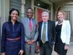 Group of faculty with Babatunde Osotimehin